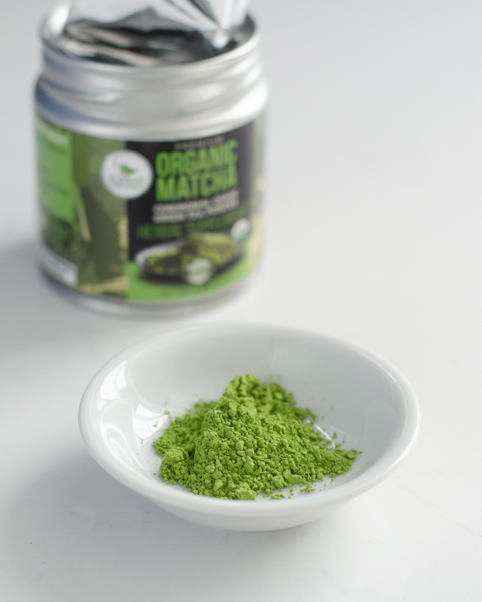 Kiss Me Organics matcha green tea powder.